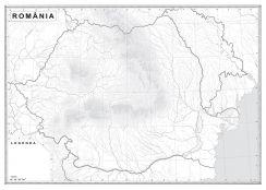 Romania Si Republica Moldova Harta Administrativă Harta De