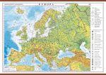 Europa. Harta fizica si politica
