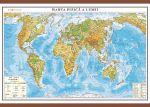 Lumea. Harta fizica 1000x700mm